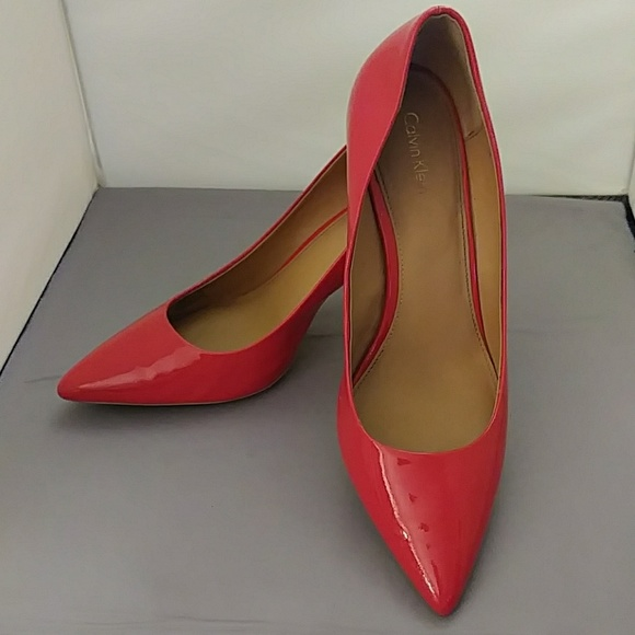 Calvin Klein Gayle Red Patent Leather